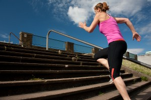 Try stair sprints at the end of a long run for psychological strength